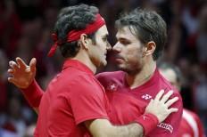 Stanislas Wawrinka Roger Federer Switzerland