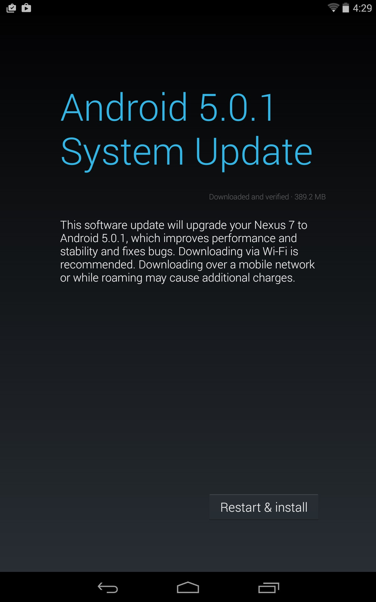 Android 5 0 1 lollipop and 5 0 2 update for nexus devices android - Android 5 0 1 Lollipop Ota Released To Nexus 4 6 7 Moto G Gpe Google Mobile Os Update Still Awaited For Nexus 5