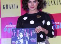 Priyanka Chopra Stuns at Cover Launch of Lifestyle Magazine