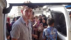 Peter Kassig delivering aid in Lebanons Bekaa Valley in May 2013