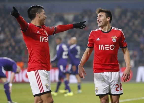 Enzo Perez Nicolas Gaitan Benfica