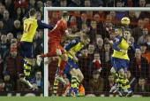 Martin Skrtel Liverpool Calum Chambers Mertesacker Debuchy Monreal Arsenal