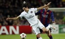 Edinson Cavani PSG Marc Bartra Barcelona