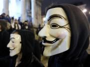 symbolic mask of the hacktivist group Anonymous