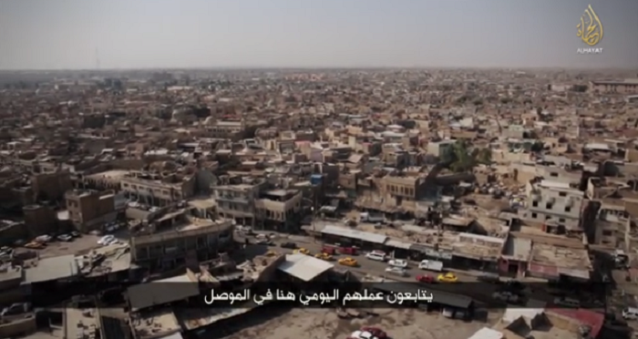The city of Mosul has shown from an highest point in the ISIS video