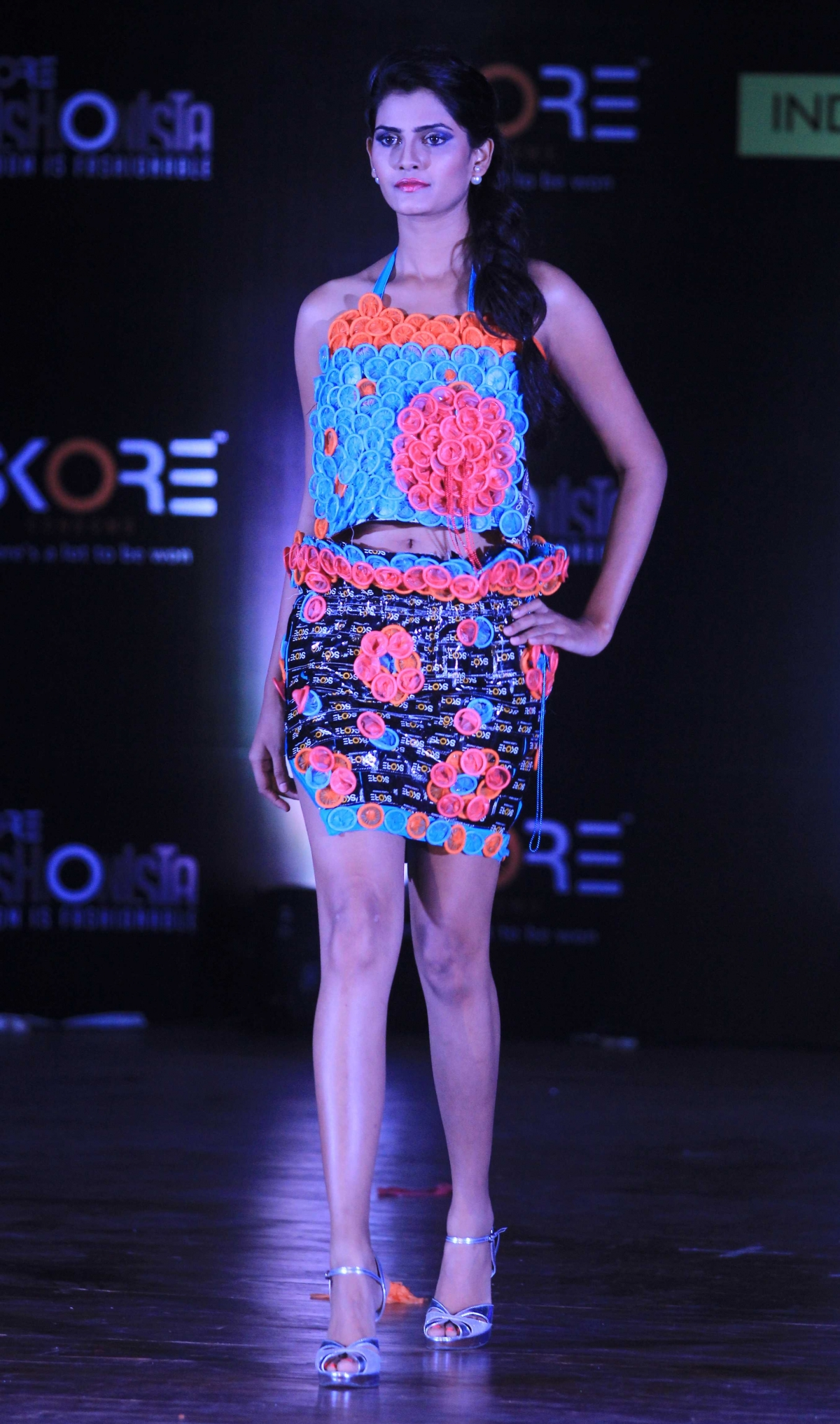 Indian College Girls Fashion Show Skore Condom Fashion Show