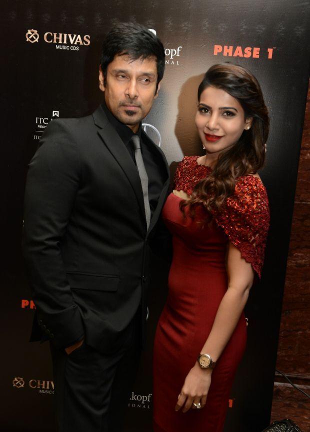 Vikram Prabhu With His Wife In Vijay Awards Www Imgkid