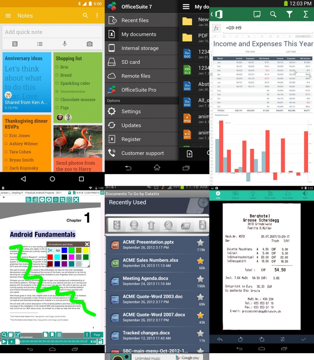 Top 10 free to download android productivity office apps ibtimes india - Office apps for android free ...