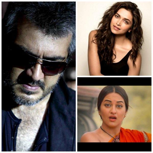 Ajith, Deepika Padukone, Sonakshi Sinha Play Leads in My ...  Ajith, Deepika ...