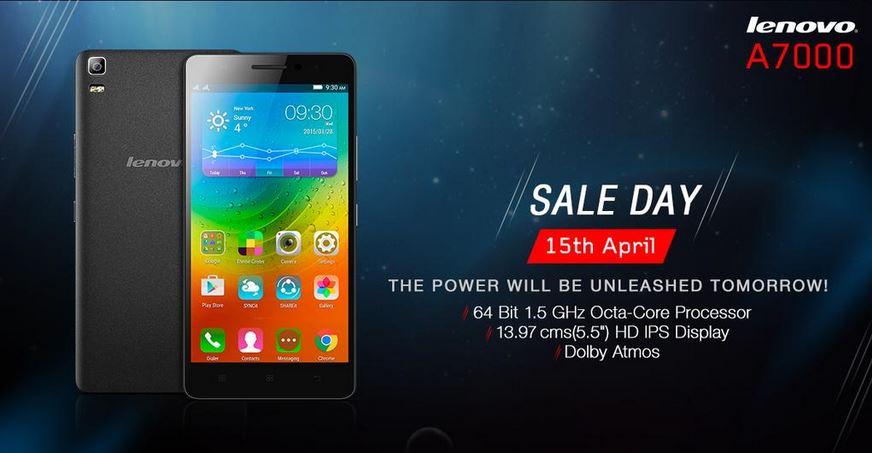 Lenovo A7000 Flipkart Flash Sale 10 To Go Live On 15 April