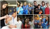 Sachin Tendulkar with his family