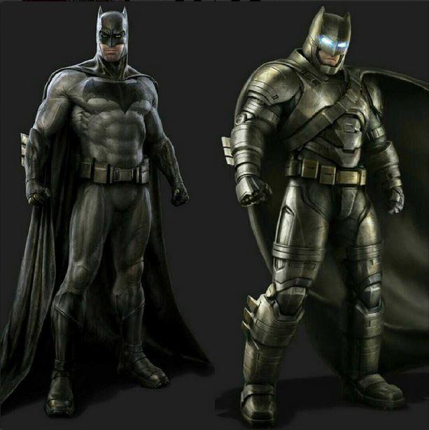Batman V Superman Dawn Of Justice Concept Art Ben Afflecks 2 Batsuits