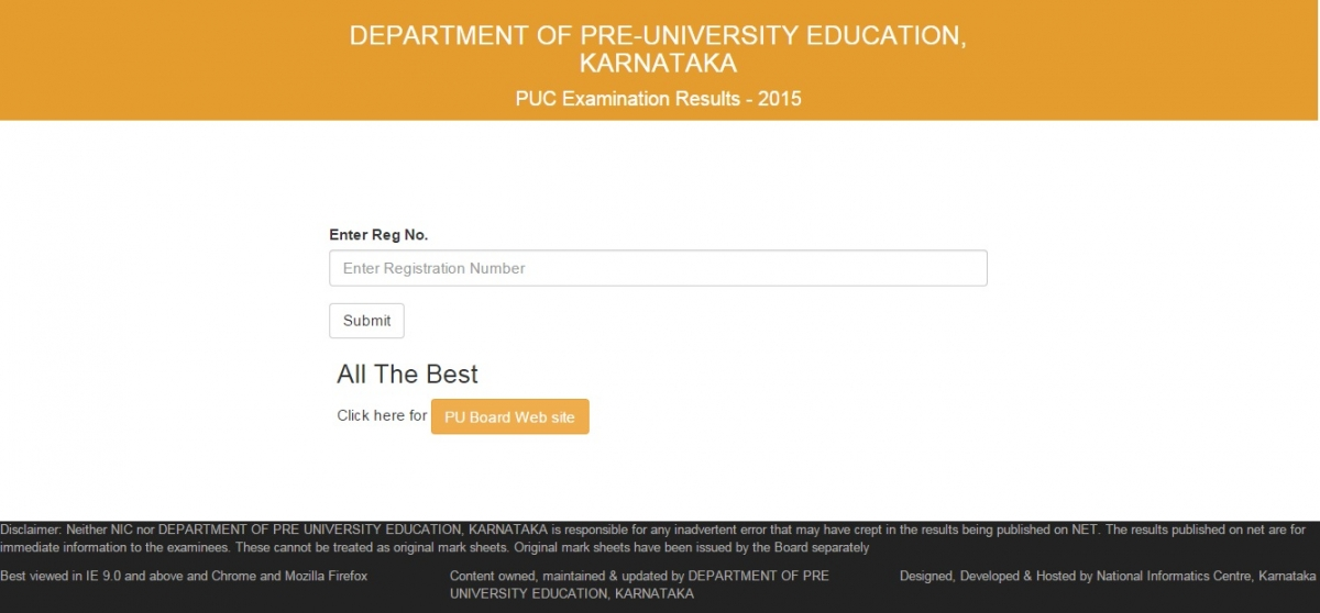 Karnataka 2nd PUC Results 2015 Announced: Where to Check Class 12 ...