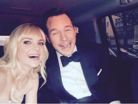 Anna Faris and Chris Pratt heading to Oscars
