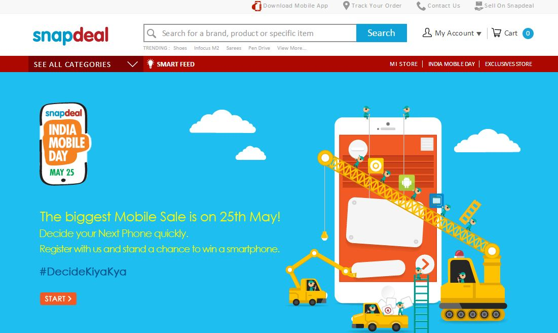 Snapdeal discount coupon code for mobile