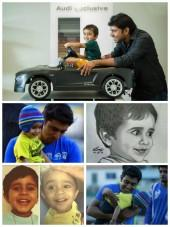 Nivin Pauly with son Daveed Pauly