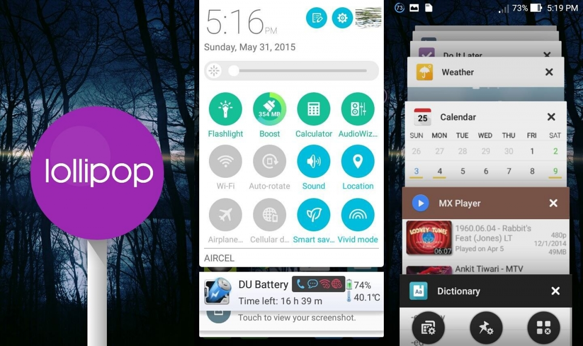 Group of Android Lollipop 50 Update