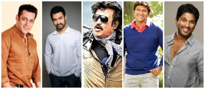 Salman, Aamir, Rajinikanth, Puneet Rajkumar, Allu Arjun