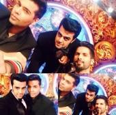 Karan Johar, Manish Paul and Shahid Kapoor