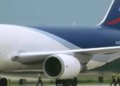 In a viral video, an aeroplane is sucking a man