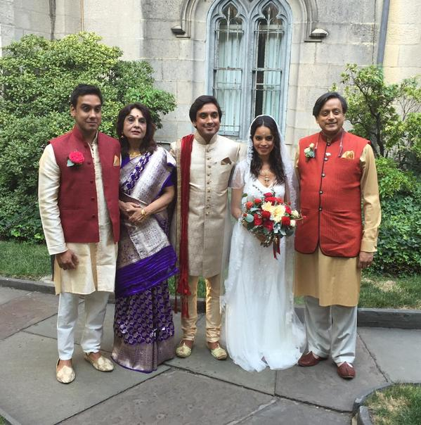 shashi tharoors son kanishk marries amanda calderon in