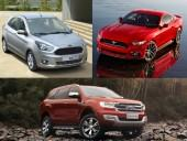 Ford Figo hatchback, Mustang, Endeavour