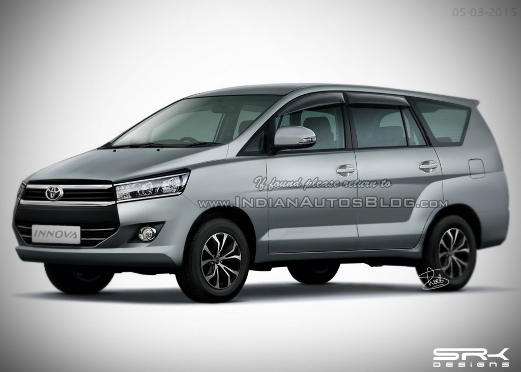 New Gen Toyota Innova to be Launched in India in Early 2016; Company