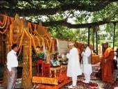 PM Narendra Modi at Mahabodhi Temple in Bodh Gaya