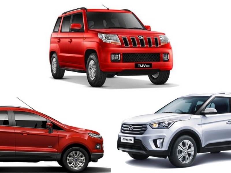 mahindra tuv300 vs ford ecosport vs hyundai creta specification price comparison. Black Bedroom Furniture Sets. Home Design Ideas
