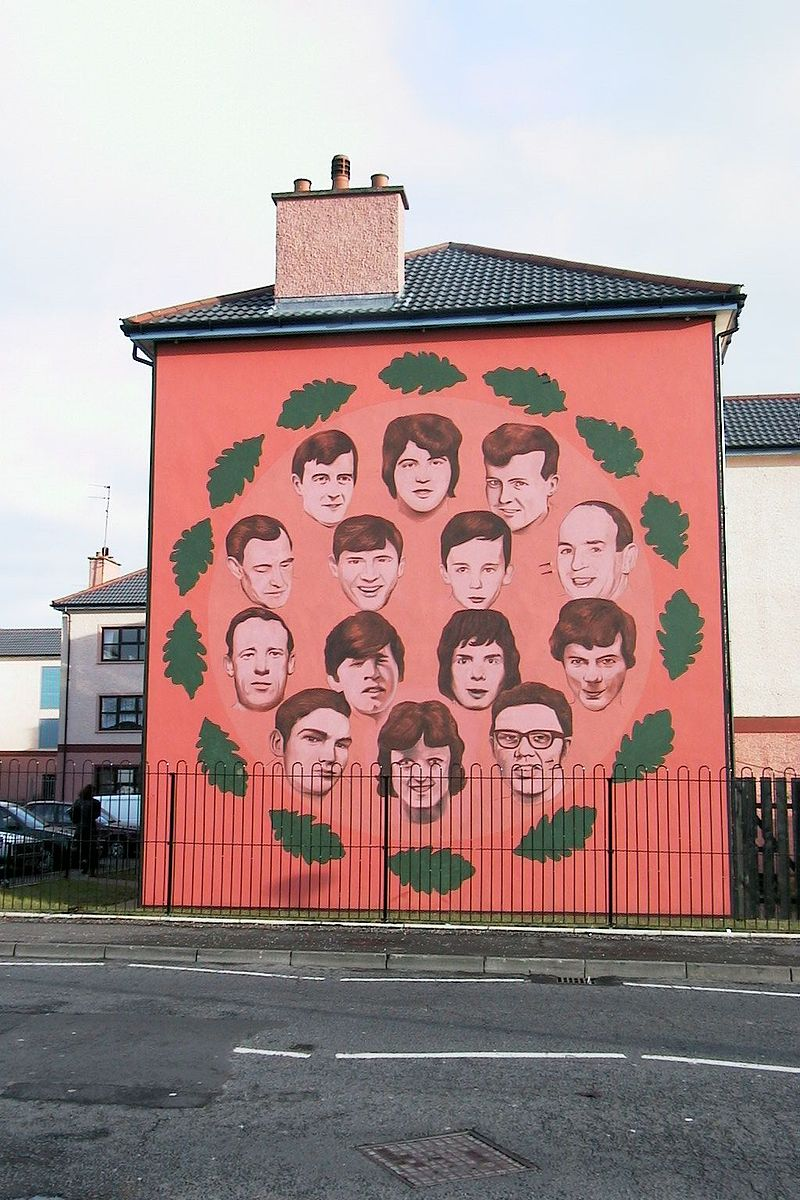 Bloody sunday 42 years after bogside massacre british for Mural irlande