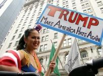 Donald Trump Muslim comments: Protesters denounce Republican candidate in New York