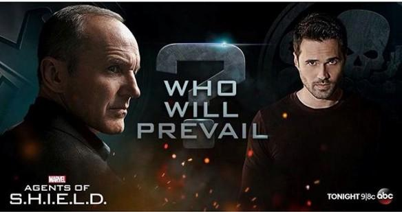 Clark Gregg as Phil Coulson (Left) and Brett Dalton as Grant Ward (Right)