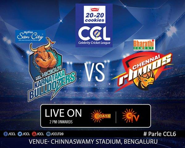 Celebrity cricket league chennai rhinos