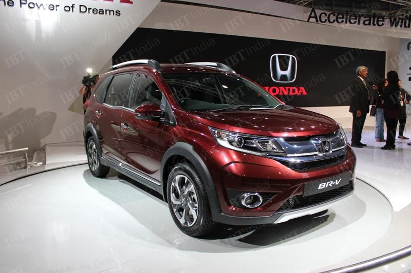 auto expo 2016 honda br v compact suv accord sedan unveiled. Black Bedroom Furniture Sets. Home Design Ideas