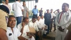 K Chiranjeevi at Rajamundry airport