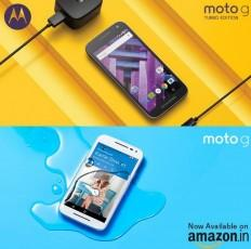 Moto G (3rd Gen), G Turbo no more exclusive to Flipkart; now available on Amazon India