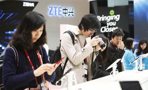 ZTE stand - Mobile world congress