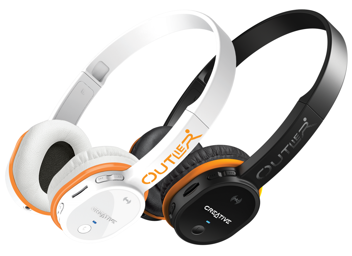 review creative outlier bluetooth headphones. Black Bedroom Furniture Sets. Home Design Ideas