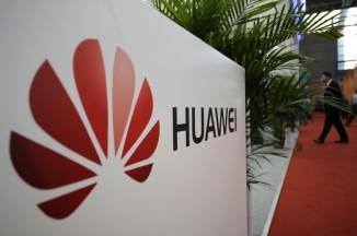 A logo of Huawei Technologies Co. Ltd. is seen in China