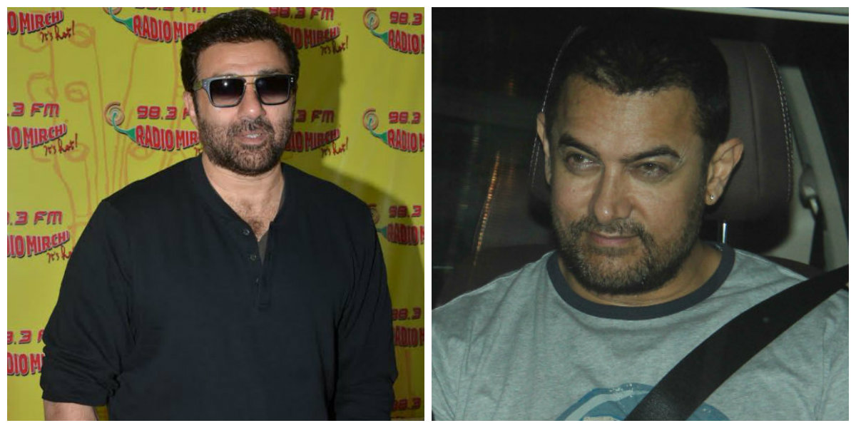 Image result for aamir khan and sunny deol