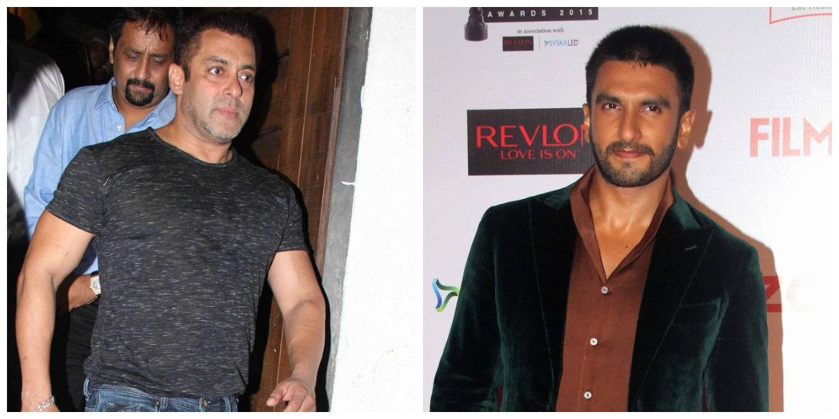 Salman Khan appears miffed with Ranveer Singh for ...