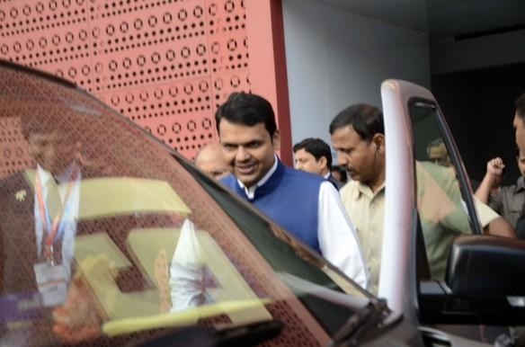 Maharashtra Chief Minister Devendra Fadnavis during the Make in India Week function, in Mumbai on Feb. 17, 2016.