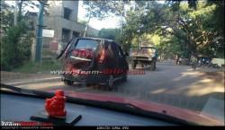 Mahindra Reva e2o 4-door version spied testing in Bangalore