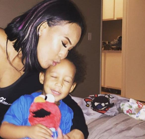 Brandi and her son