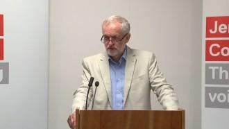 Jeremy Corbyn gets frustrated over questions about traingate