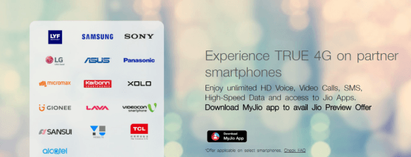 Sony, Videocon, Sansui now eligible Jio Preview Offer