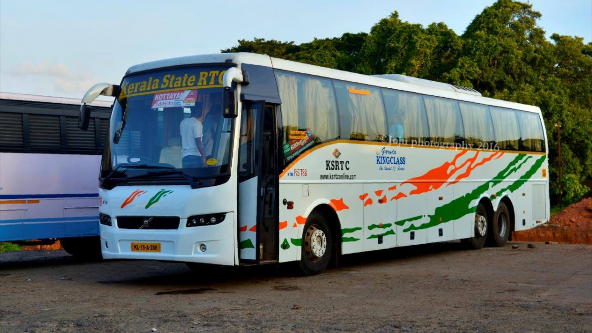Kerala State Bangalore to Kottayam Volvo bus meets with an ...