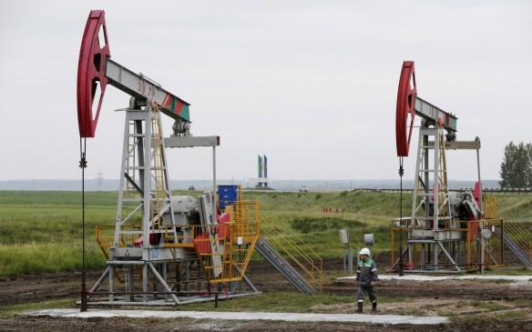 Oil pump jack in Russia