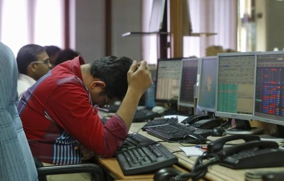 tcs share market cap fall outlook q2 earnings hdfc stock market bse bombay stock exchange building brokers profit sales shares sensex gainers losers