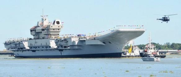 INS Vikrant in construction